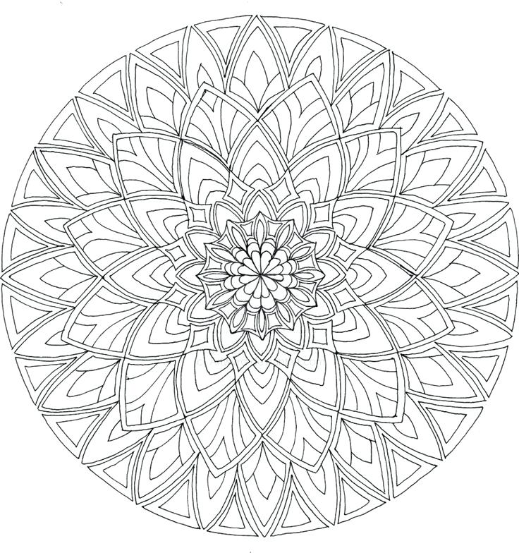 736x784 Mandala Online Coloring Pages Printable For Tiny Print Draw Adult