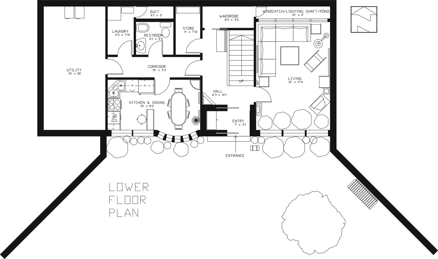 1500x888 Earth Sheltered Passive Home Plan