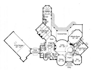 368x276 Mediterranean House Plans Luxurious Two Story Mediterranean Home