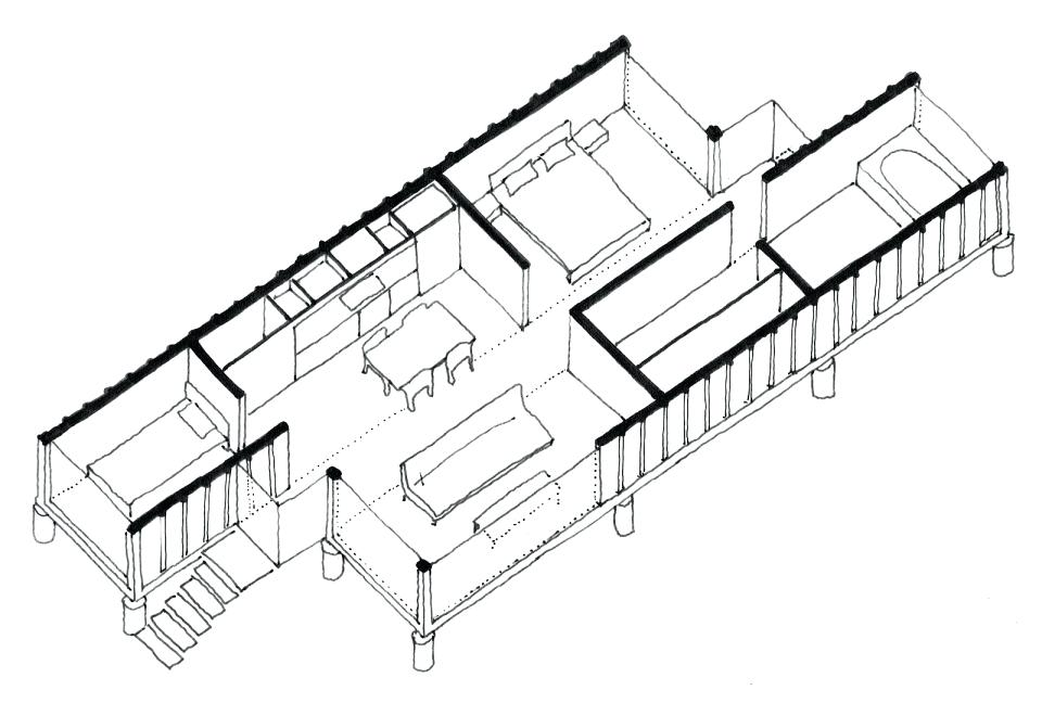 960x660 Small House Sketch Capture Small House Plan Drawings