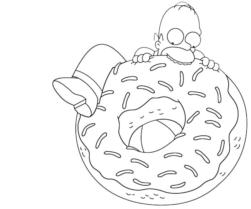 Homer Simpson Drawing at GetDrawings.com | Free for personal use ...
