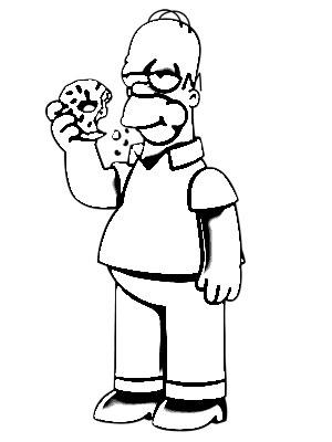 300x400 Homer Simpson Cartoon Sketch