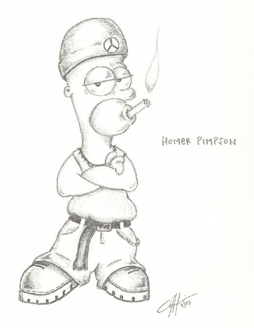 518x668 Homer Simpson Gangsta Style By Chsmallfry