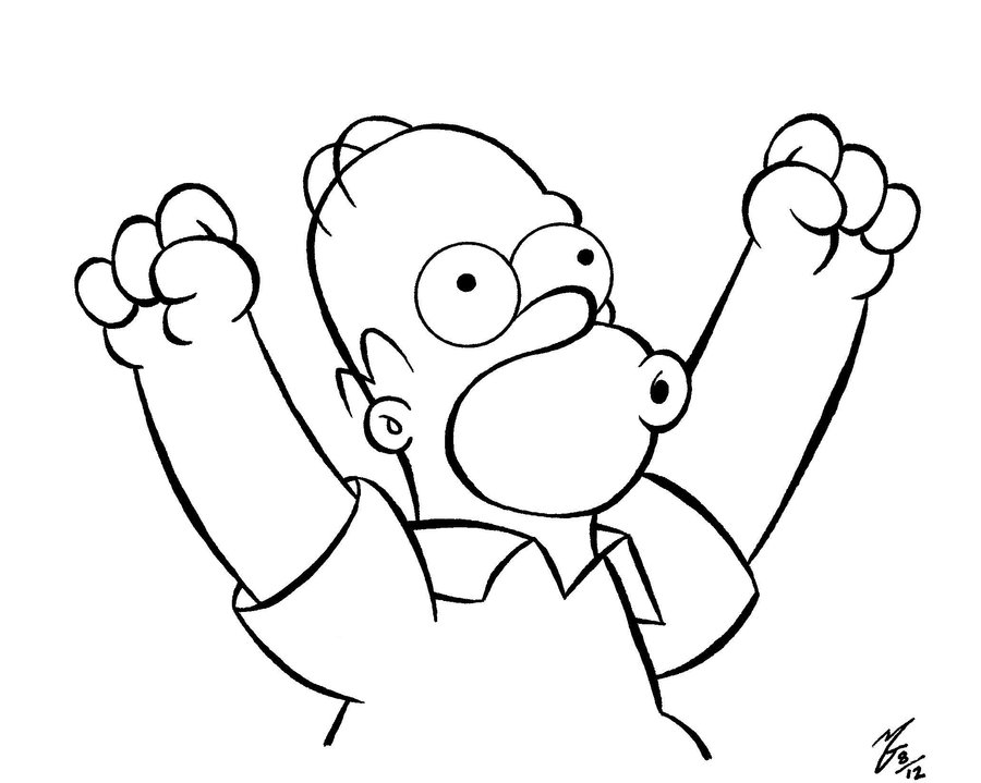 900x719 Homer Simpson By Zombiegoon