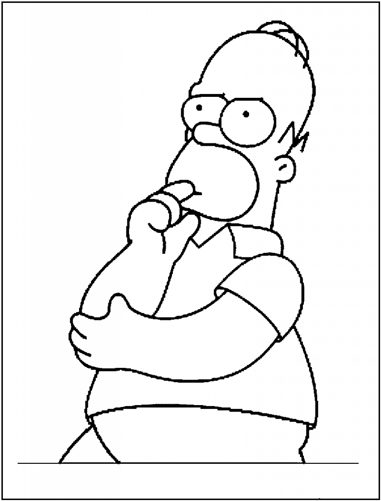 780x1024 Homer Simpson Coloring Page Cartoon Coloring Pages