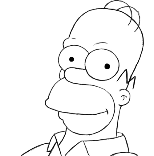 500x506 How To Draw Homer Simpson