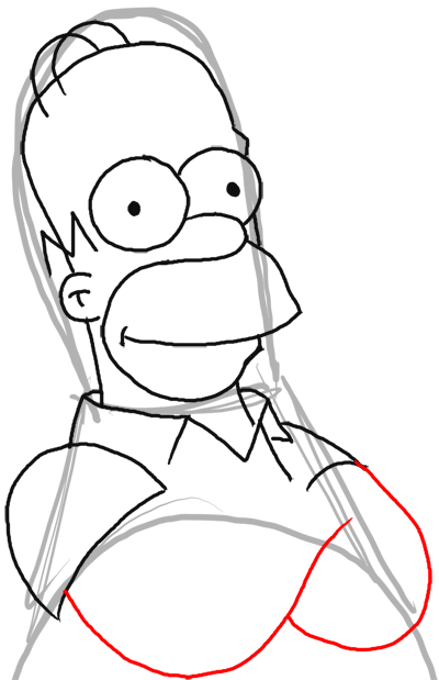 400x619 How To Draw Homer Simpson From The Simpsons Step By Step Drawing