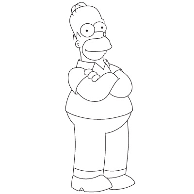400x400 How To Draw Homer Simpson