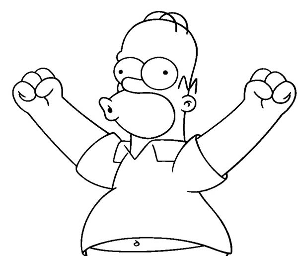 600x515 Simpsons, Homer Simpson Excited To Do Something In