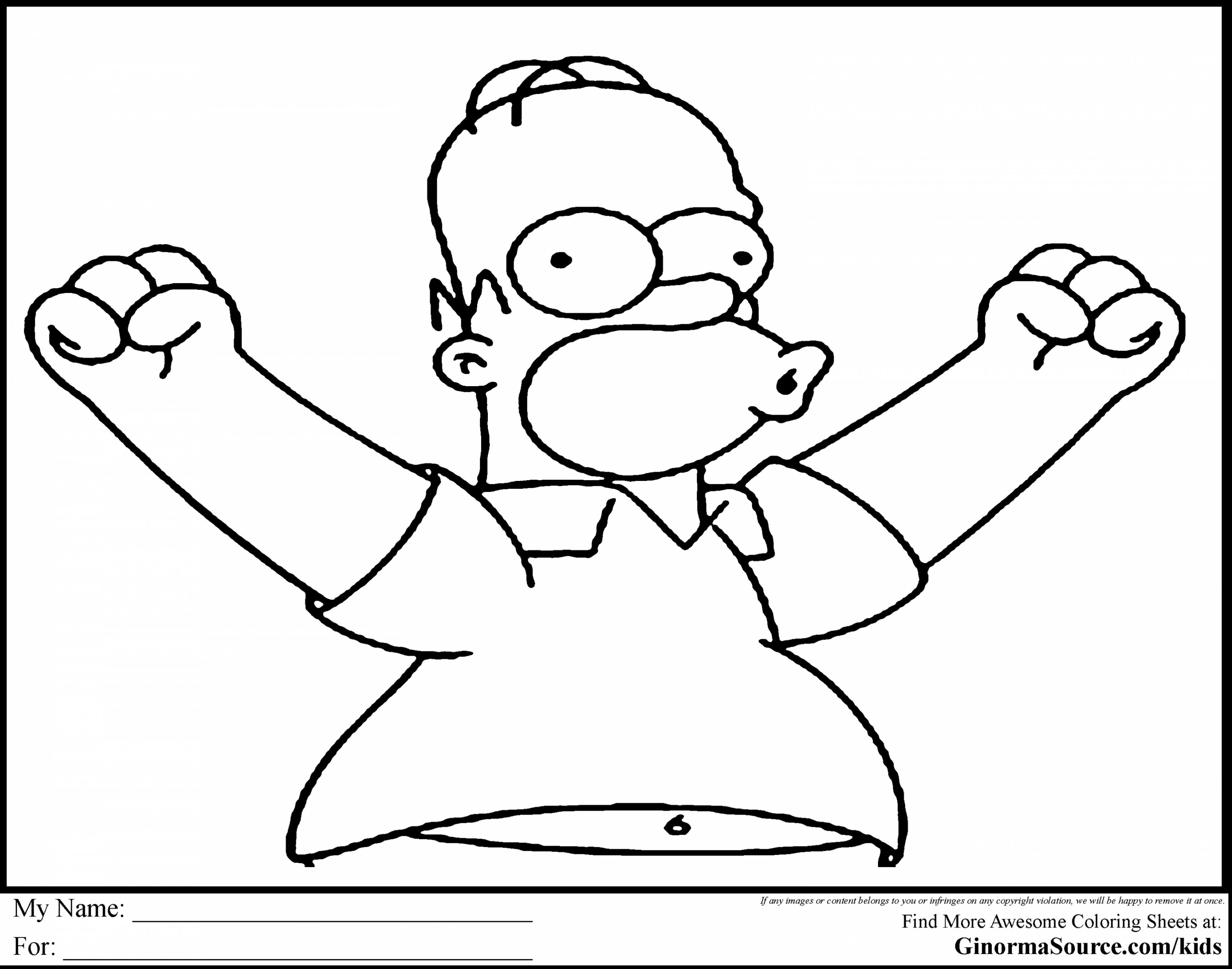 3432x2700 Outstanding Homer Simpson Coloring Pages With Simpsons Coloring