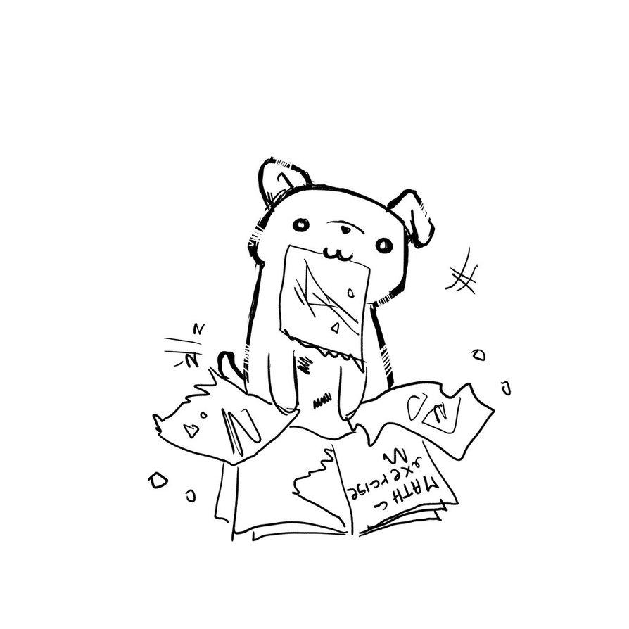 894x894 Gnofi The Dog Ate My Homework By Emanuelamandas