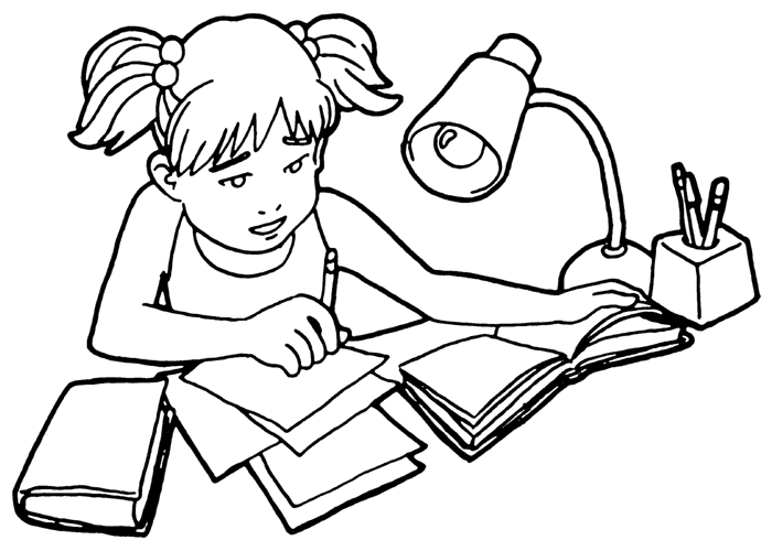school homework coloring pages | Homework Drawing at GetDrawings.com | Free for personal ...