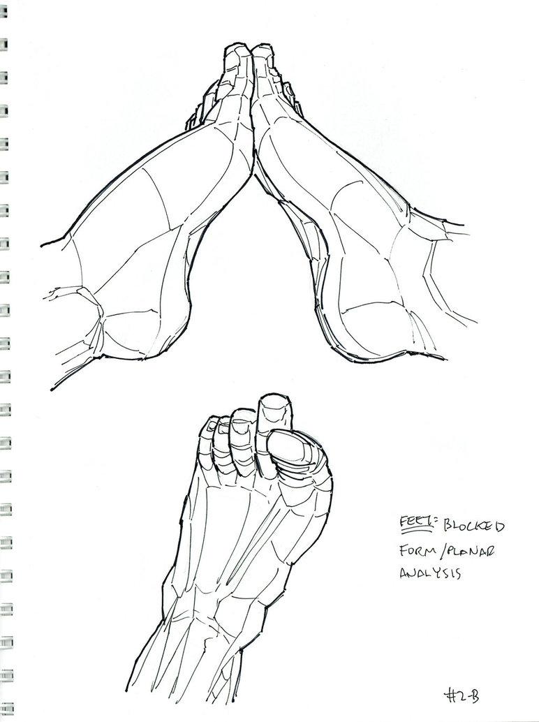 772x1034 2015 Sketchbook Homework Feet Planar Analysis By Arielaguire