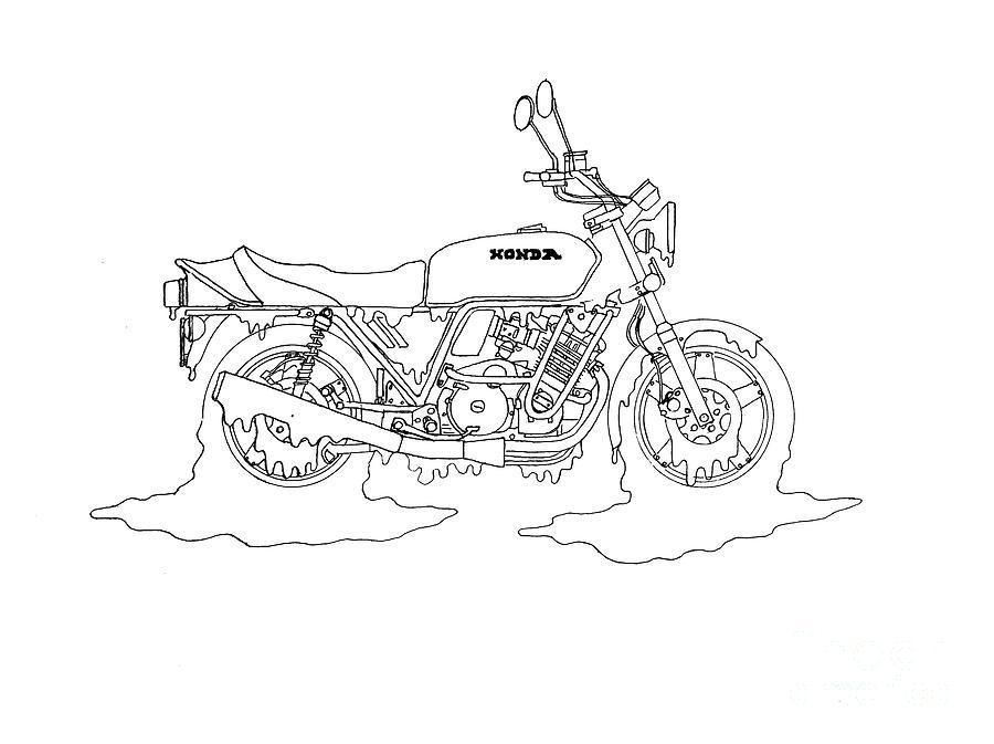 900x673 Honey Honda Drawing By Stephen Brooks