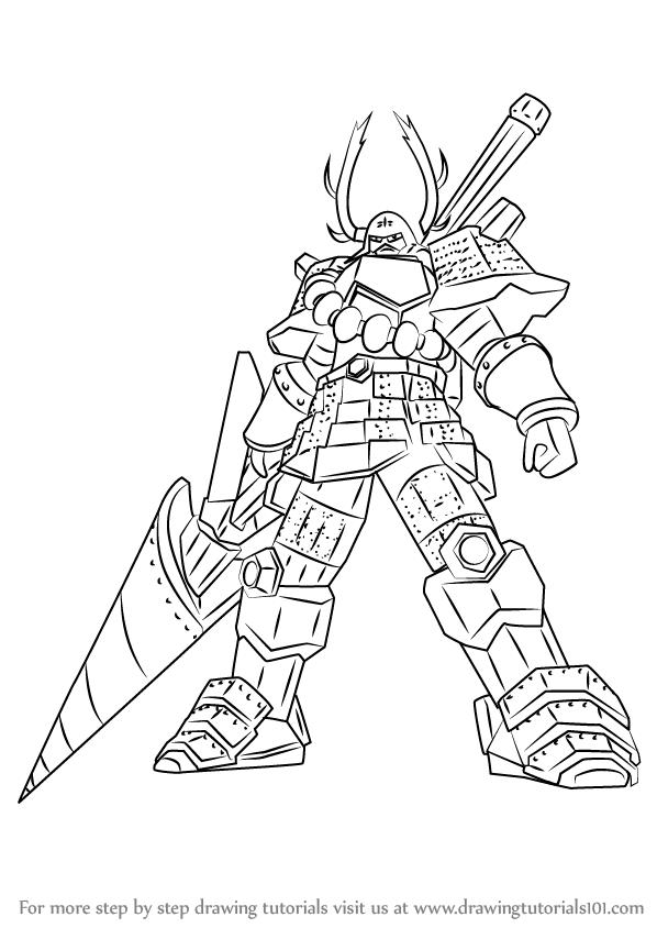598x844 Learn How To Draw Honda Tadakatsu From Sengoku Basara (Sengoku