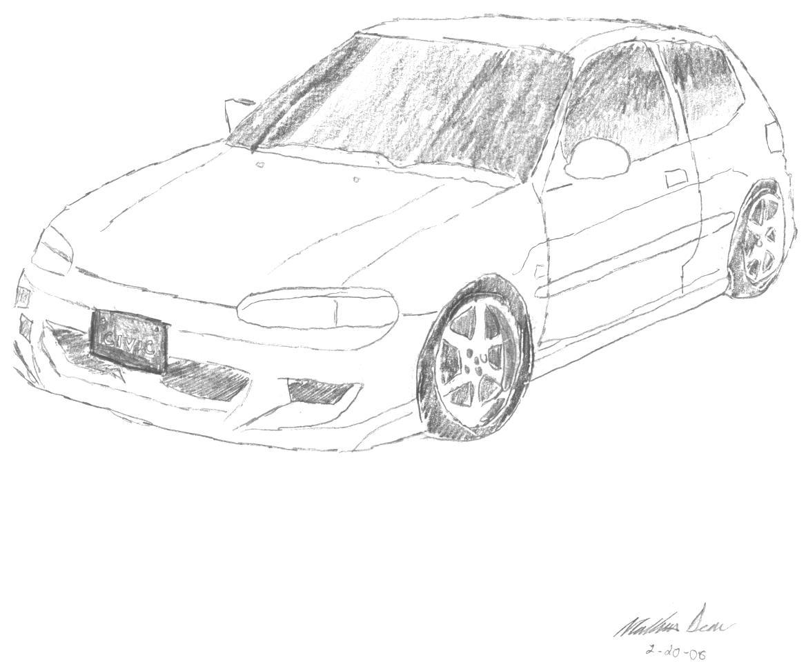 1168x960 Honda Civic Drawing By Nastynatedirtydean
