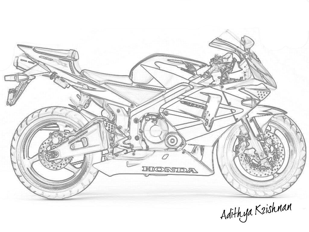 honda motorcycle drawing at getdrawings com