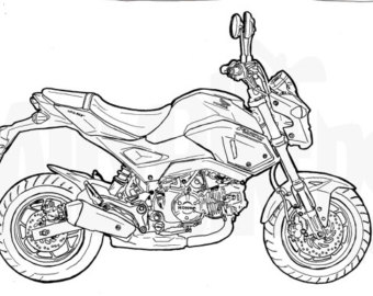 340x270 Honda Grom Colouring Page