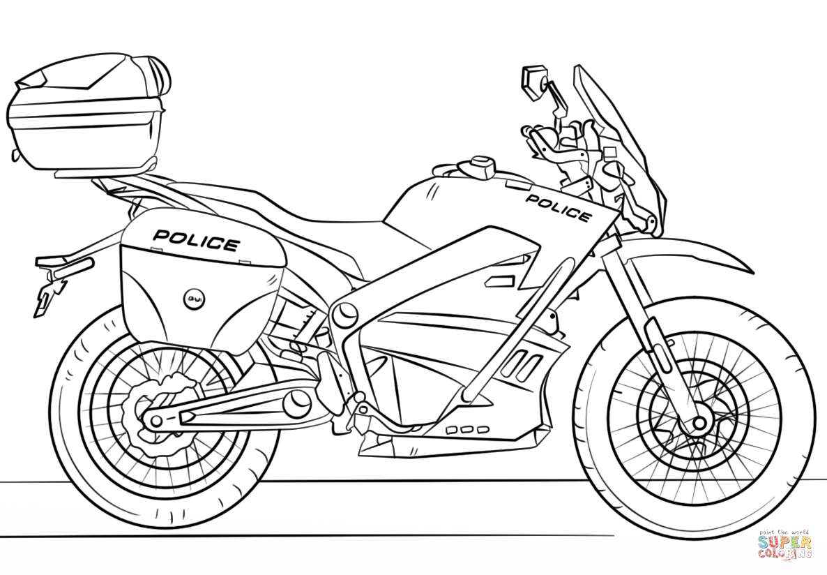 Honda Motorcycle Drawing At Free For Personal Use Cartoon Dirt Bike Engine Diagram 1186x824 Police Coloring Page Printable Pages