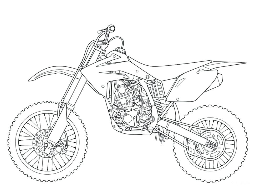 970x728 Dirt Bike Coloring Page