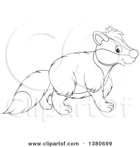 450x470 Clipart Walking Honey Badger