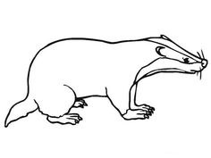 236x177 Honey Badger Pattern. Use The Printable Outline For Crafts