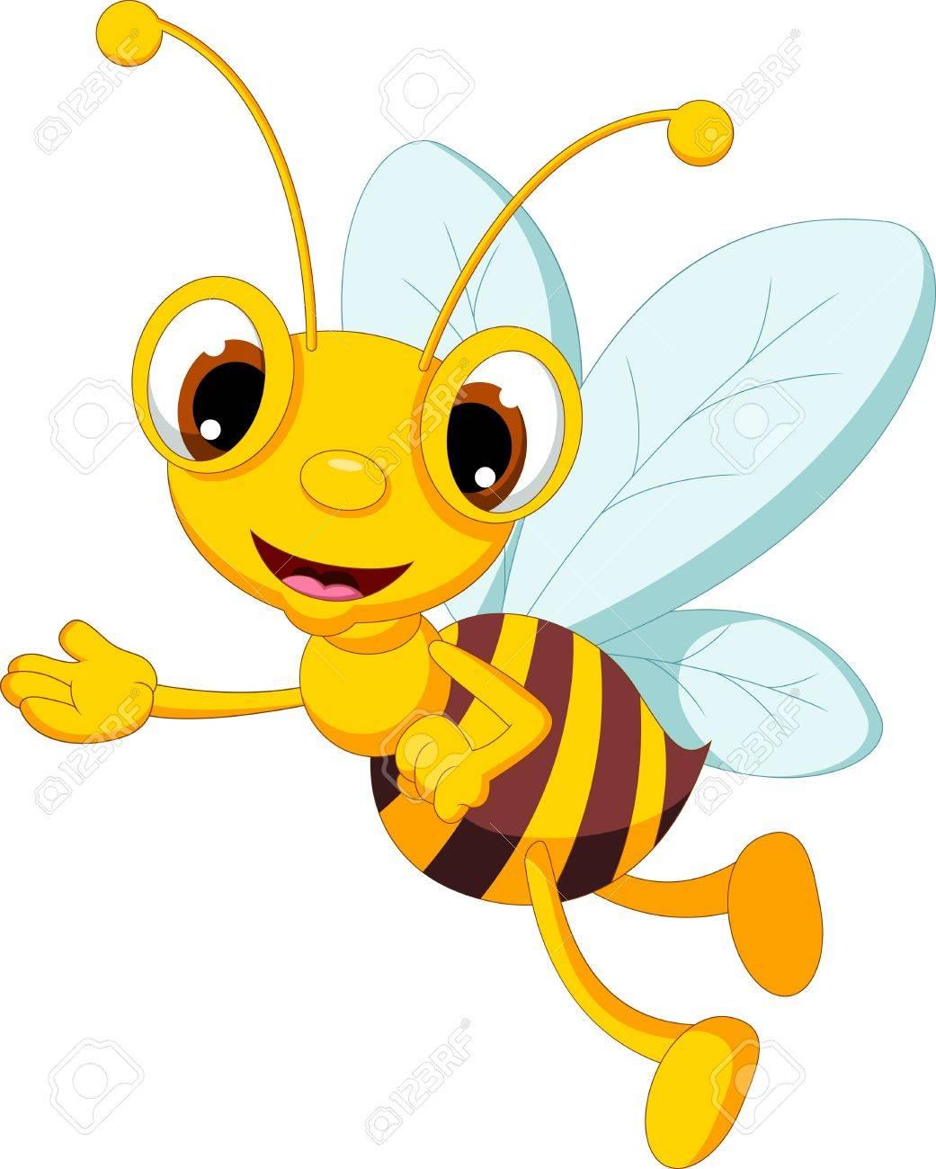 how to draw a cartoon honey bee
