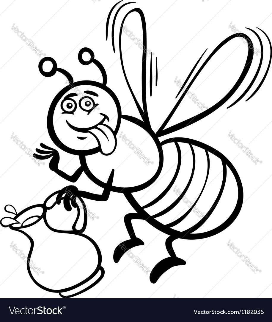 915x1080 Honey Bee Drawing Cartoon Cartoon Drawing Honey Bee How To Draw