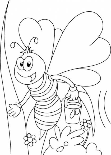 420x586 Miss Honey Bee On Her Tweet Coloring Pages Download Free Miss