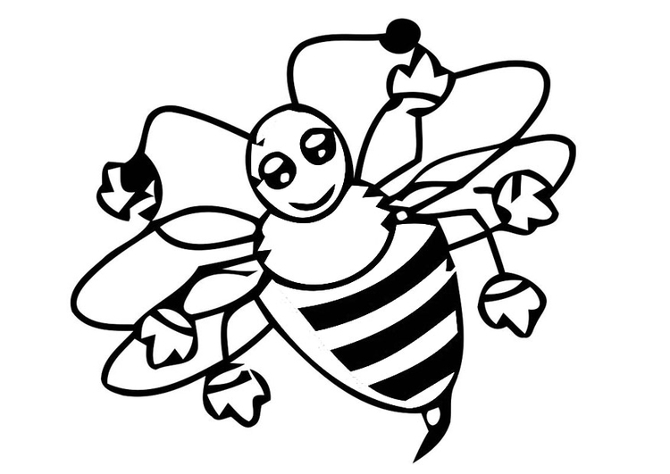 750x531 Coloring Page Honey Bee