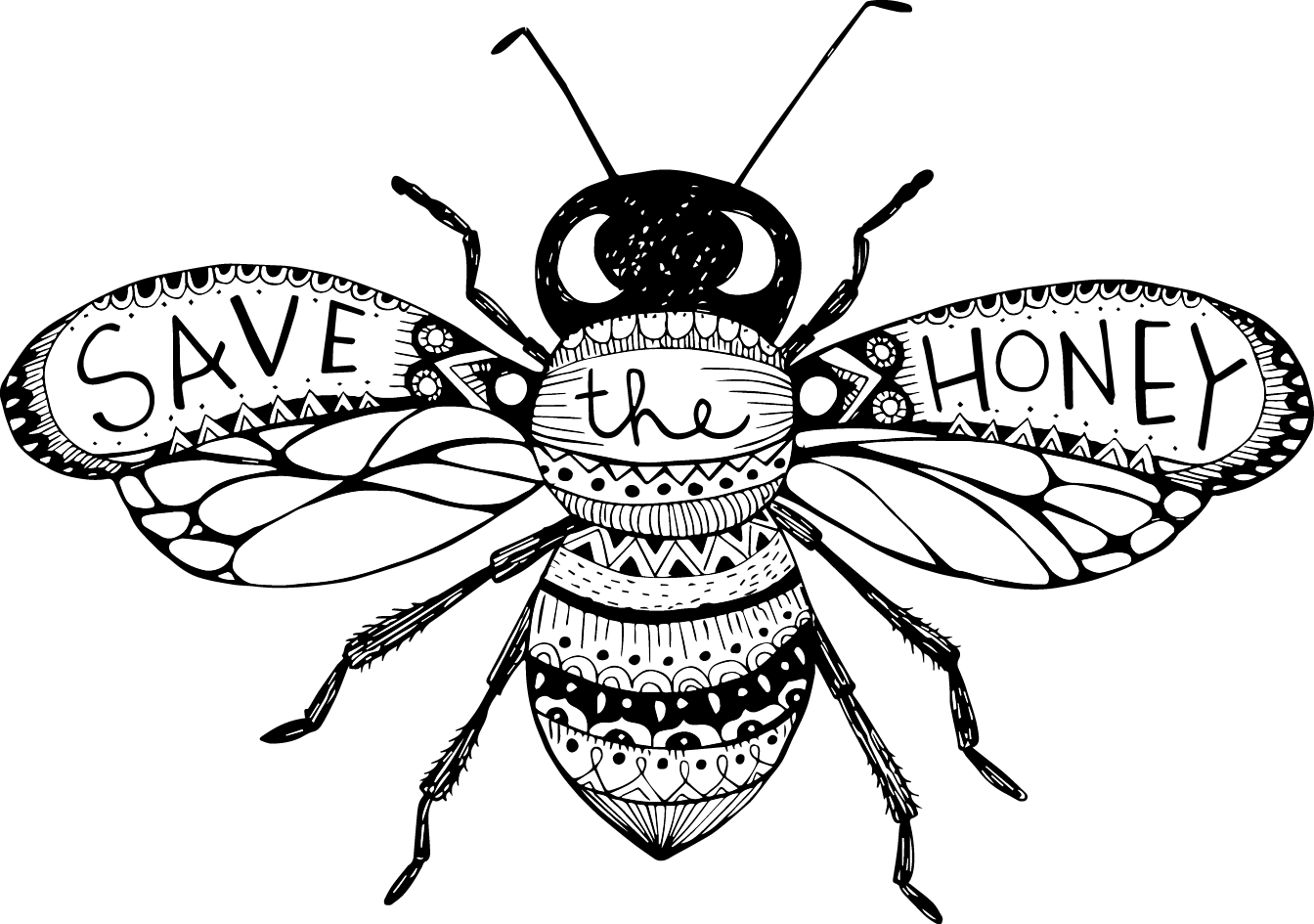 1344x945 Bee Field Journal Illustration 11x14 Bees, Journal And Fields