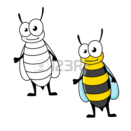 450x450 Cartoon Yellow Jacket Wasp Insect Character With Stinger