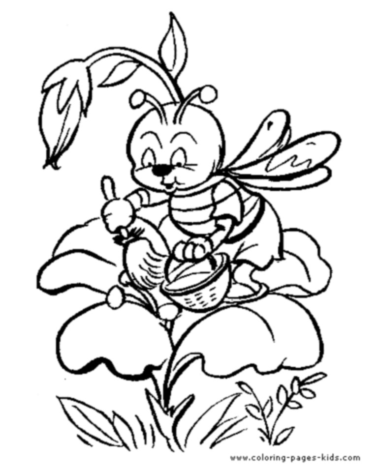 768x960 Bee Coloring Pages