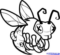 236x217 How To Draw A Honey Bee, Step By Step, Bugs, Animals, Free Online