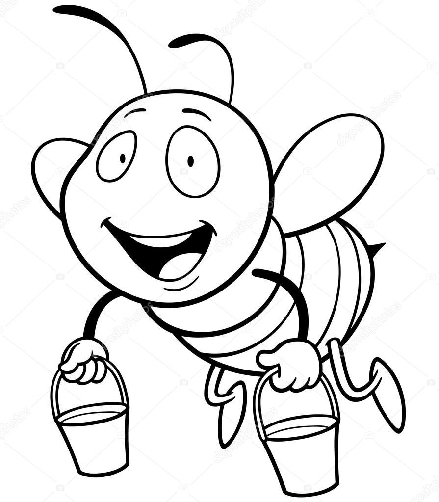 895x1023 Cartoon Bee Stock Vector Sararoom