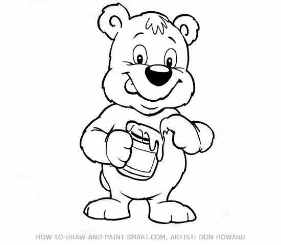 550x479 How To Draw A Bear