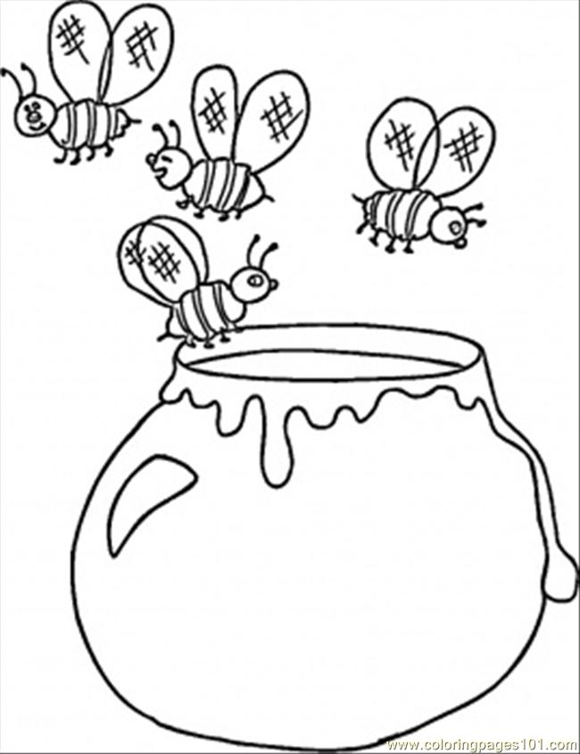 650x845 Top 72 Honey Coloring Pages
