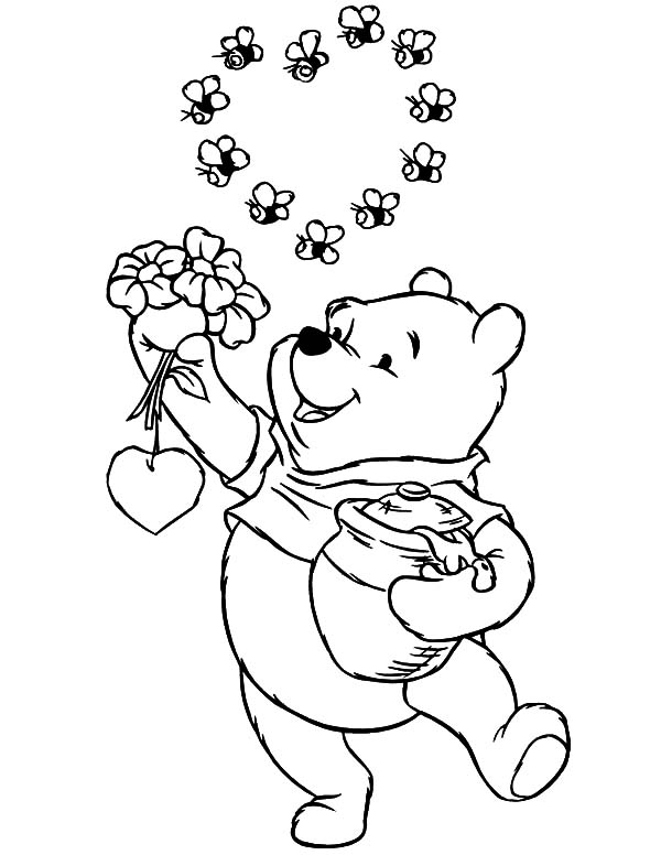 600x776 Winnie The Pooh Honey Pot Coloring Pages