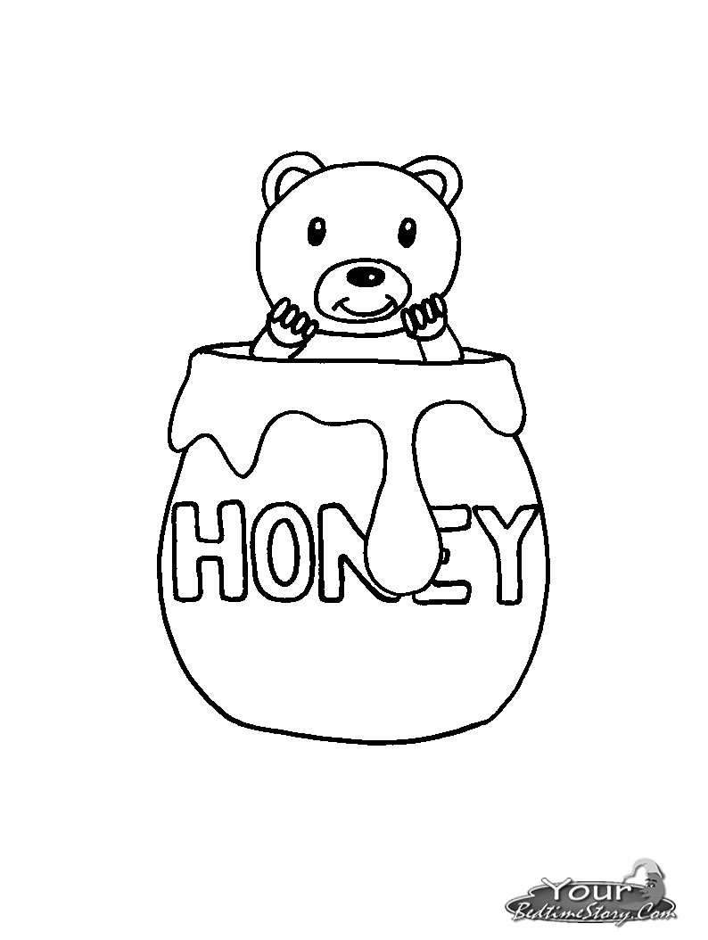 794x1054 Best Photos Of Honey Jar Coloring Page