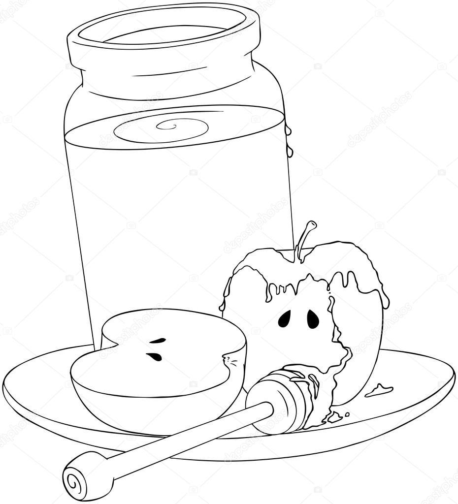 930x1024 Honey Jar Drawing
