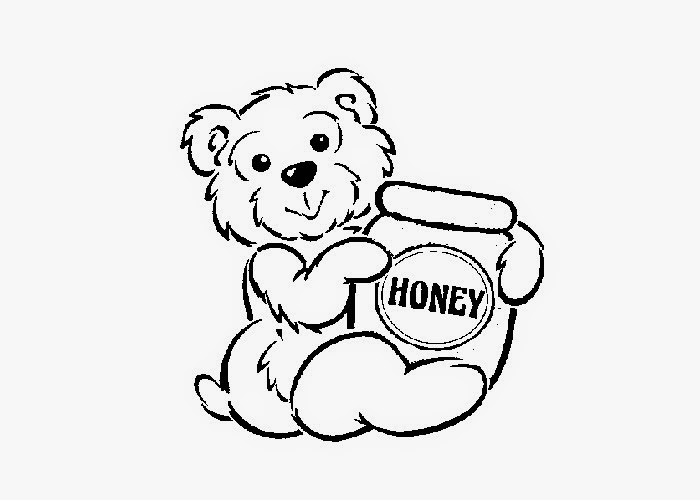 700x500 Baby Bear Honey Pot Coloting Sheet Free Coloring Pages
