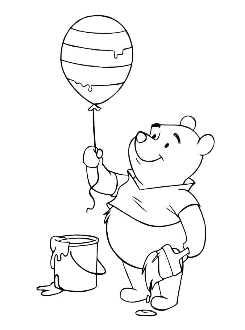 794x1068 Winnie The Pooh Honey Pot Coloring Pages