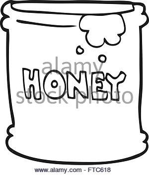 300x353 Freehand Drawn Cartoon Honey Pot Stock Vector Art Amp Illustration