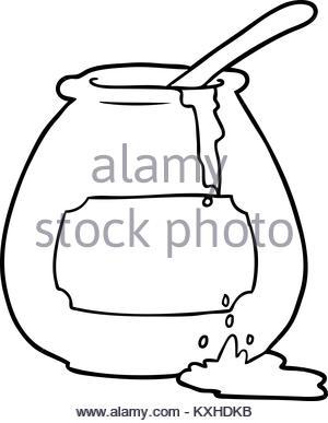300x387 Freehand Retro Cartoon Honey Pot Stock Vector Art Amp Illustration