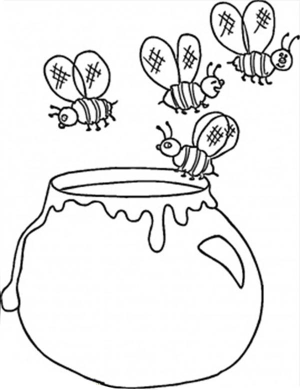 600x780 Coloring Pages Of Bottles Of Honey Hunny Pot Coloring Page