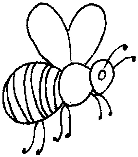 448x510 Coloring Pages Outstanding Coloring Pages Draw A Bee Php Cute