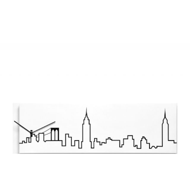 640x640 Skyline 1830 New York, Wall Clock, Progetti,