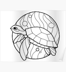210x230 Honu Drawing Posters Redbubble