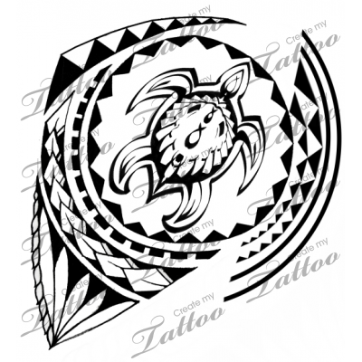 400x400 Marketplace Tattoo Polynesian Honu