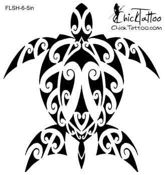 329x350 Polynesian Maori Style Honu (Turtle) Tattoo Design Tattoos